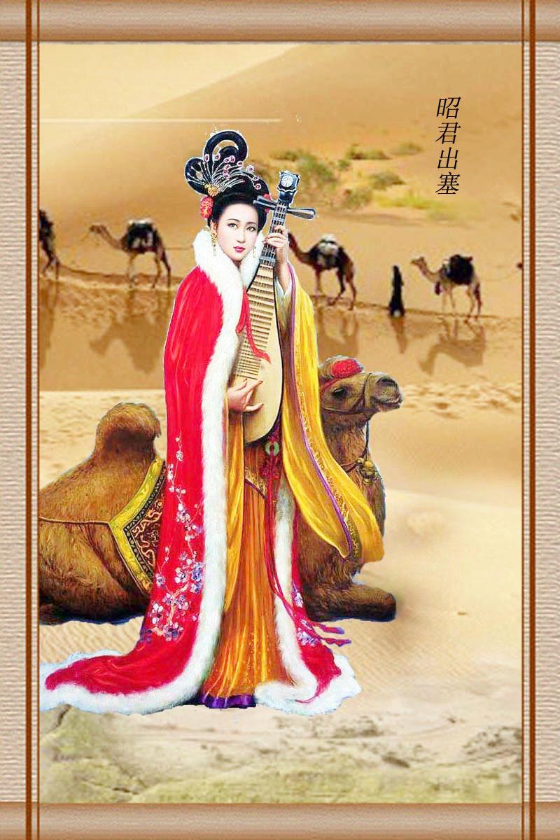 中国古代四大美女图佛语禅心仕女图