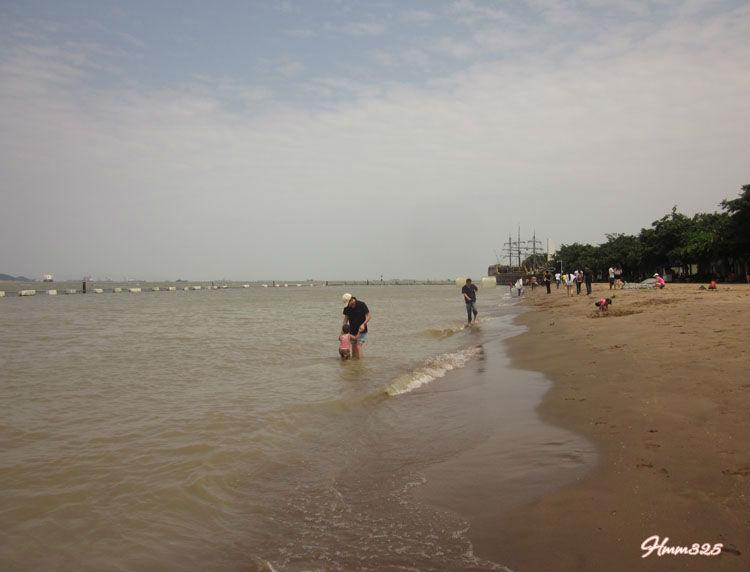 南沙天后宫   广州南沙天后宫沙滩   南沙滨海泳场+ 沙滩 + 高清图片