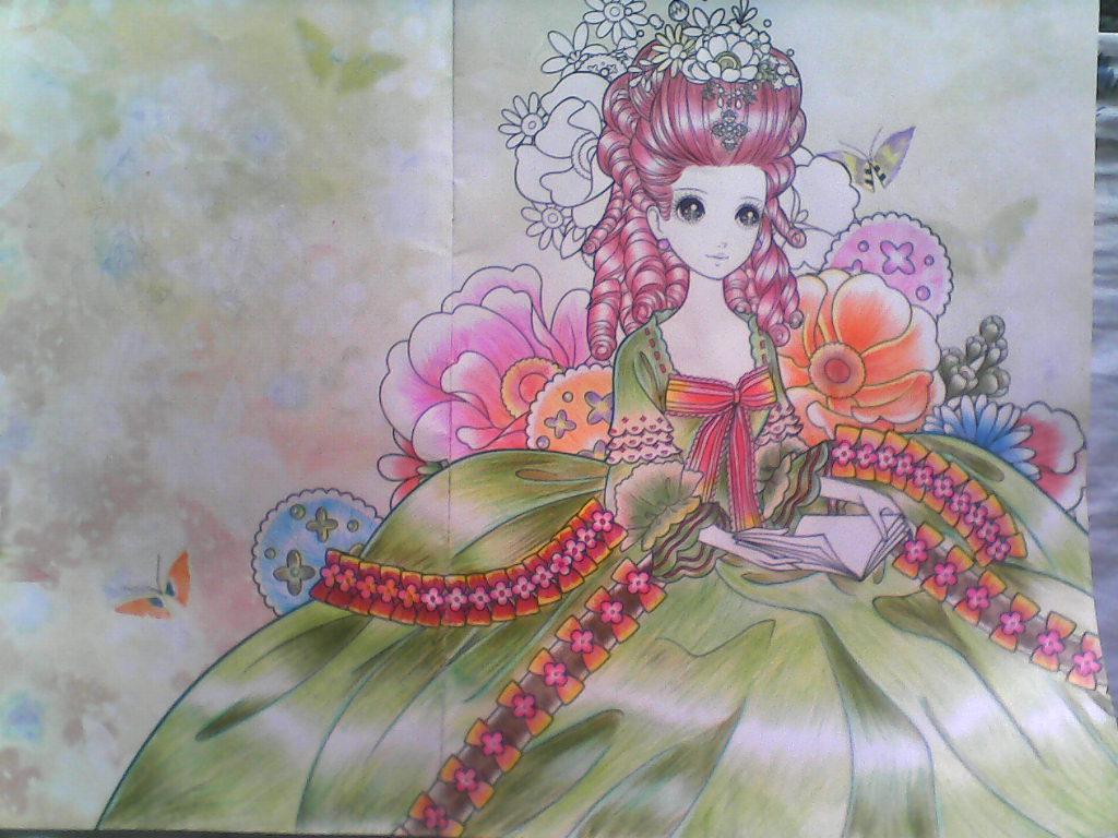 美少女公主铅笔画图片