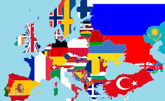 欧洲各国版图及旗帜