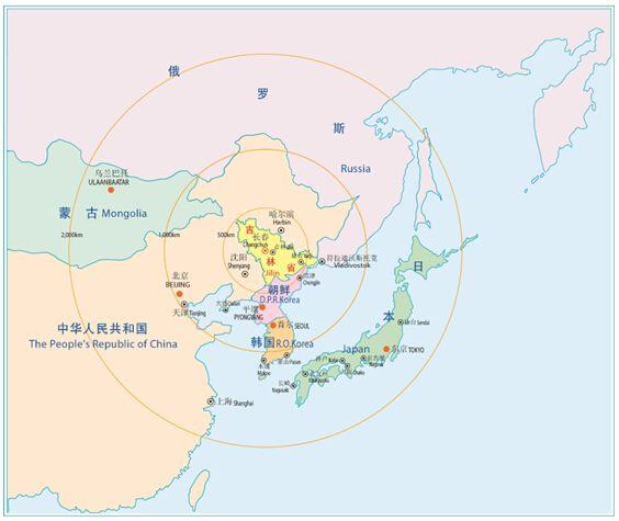 根据美国外交关系协会的定义,东北亚包括朝鲜半岛和日本列岛.图片