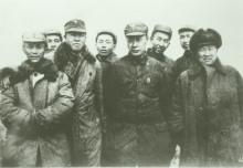 前排左起:舒同、黎玉、陈毅、张云逸