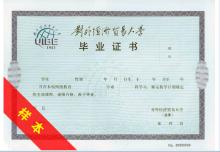 网络远程教育证书样本