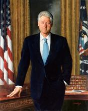 克林顿是自富兰克林·罗斯福总统以来首位连任成功的民主党总统,他 &图片