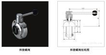 焊接蝶阀结构图