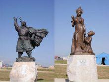 青海湖诗歌广场十二座史诗雕塑