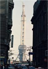 建設中的東方明珠廣播電視塔