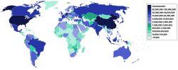 2006年4月全球各国因特网用户数量