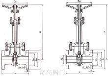 国标低温法兰闸阀规格主要尺寸图片