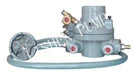 气动单隔膜泵简图: 2气动单隔膜泵的工作原理编辑 气动单隔膜泵由图片