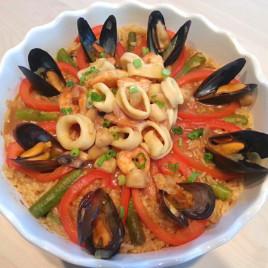 咖喱小海鲜饭图片