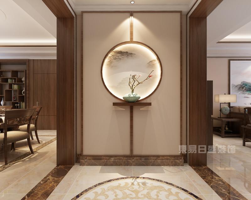 新中式公司玄关_新中式玄关 国信嘉园 新中式 210平米三居室装修效果图