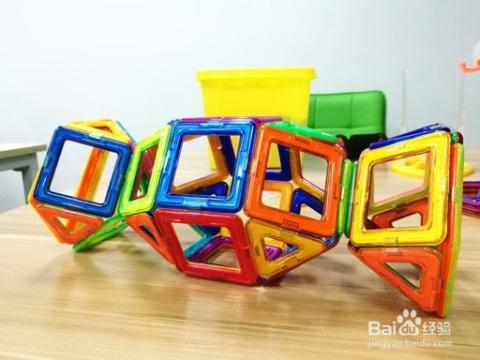 玩具工程磁力图解磁力片积木教学提拉教程_糖果v玩具磁体玩具车图片