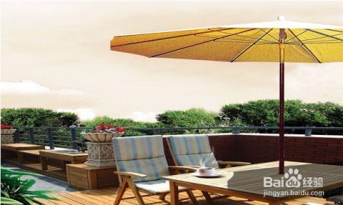 设计成一个别具一格的风格,例如田园风格,例如欧式风格,露天阳台的