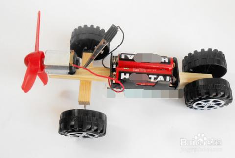【手工】diy科技制作小发明风力电动车图片