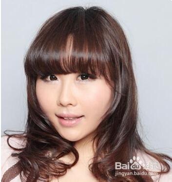 圆脸适合刘海的发型图片