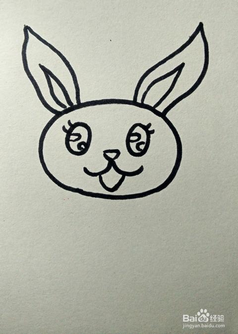 儿童简笔画 可爱兔子的画法