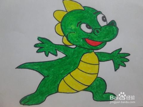儿童学画小动物:[19]小恐龙图片
