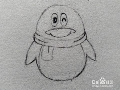 qq企鹅简笔画