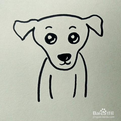 儿童简笔画:小狗的画法图片