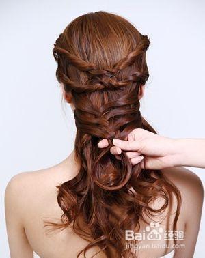 盘头发方法全图解_美发图片