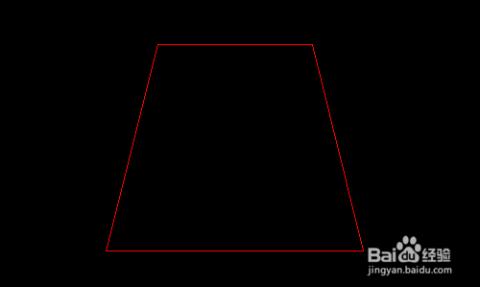 转左视图,画上边长300,下边长500,高400的等腰梯形图片