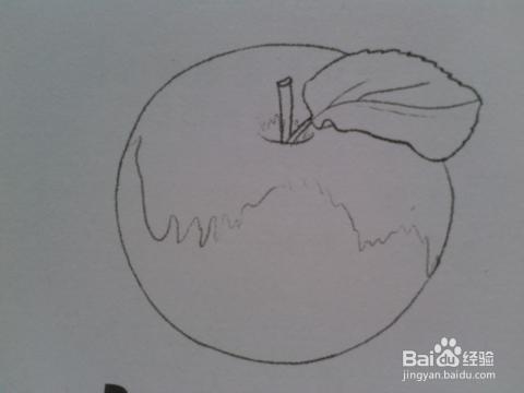 如何把简单的素描画好——苹果篇图片