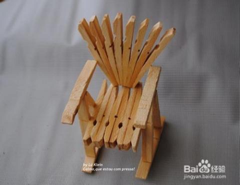 木夹手工制作创意椅子艺品教程图解_手工艺_百度经验图片