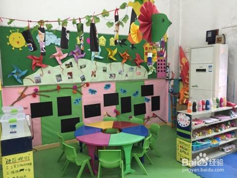 美工区:区域背景墙用kt板剪成一个个小画框,贴在墙上用来展示幼儿优秀图片