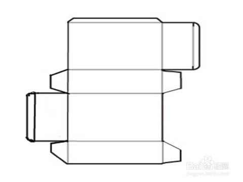 用笔和尺子画上盒子构造图.图片