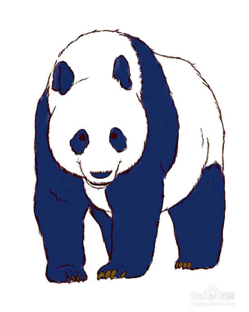 怎样画动物:[4]怎么画熊猫图片