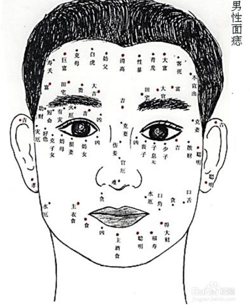 女人脸上的痣图解