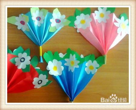 手工花束宝宝的教师节礼物图片