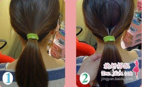 教你扎1000种头发韩式超淑女扎发图片