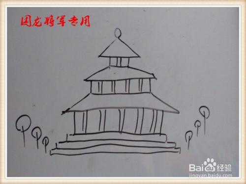 儿童简笔画房子系列之宫殿图片