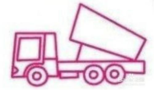 简笔画大全 翻斗车和大货车绘制方法