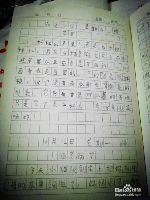 低年级小学生怎样开始写日记图片