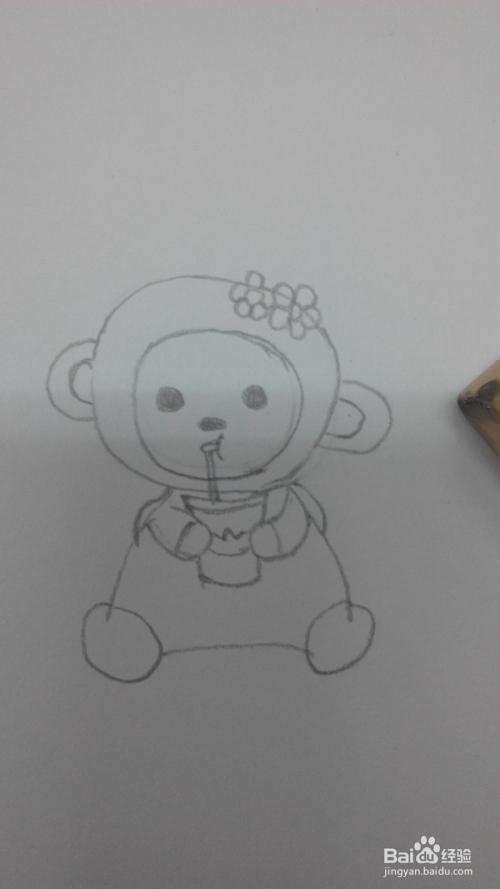 兴趣爱好:[4]简笔画:猴子宝宝的简单画法图片