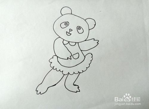 学画简笔画唱歌的小熊猫