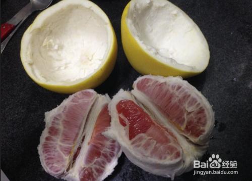 教你做简单的果盘 柚子果盘图片