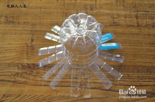 环保达人#利用矿泉水瓶子自制花瓶图片