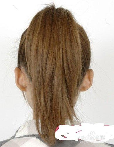 发型变完美   直发马尾怎么扎好看直发马尾发型扎法图解步骤