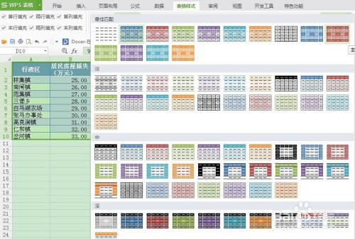 怎样在excel中设计表格的样式图片