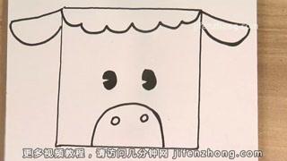 【儿童节】正方形简笔画|野猪|青蛙|老鼠图片