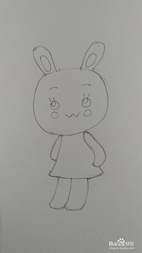 简笔画 生肖Q版兔子画法