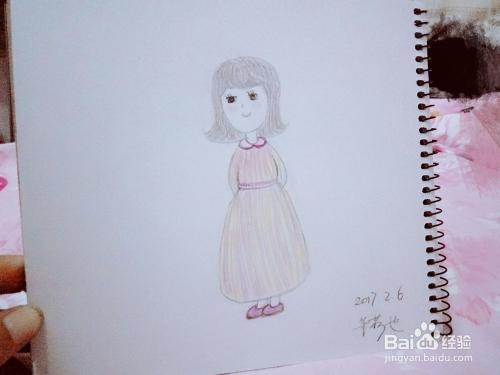 怎样画铅笔画短发女孩小唯?图片