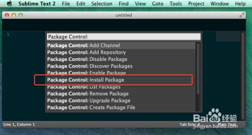 Sublime Text2/3怎样在Mac OSX中配置CTags插件