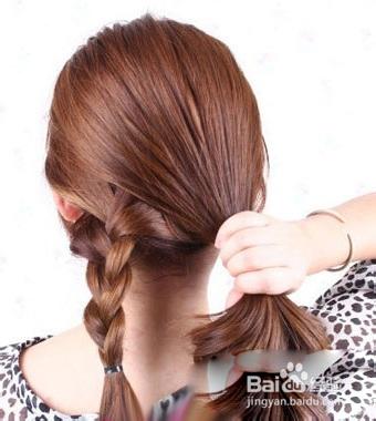夏季中长发发型扎法图片