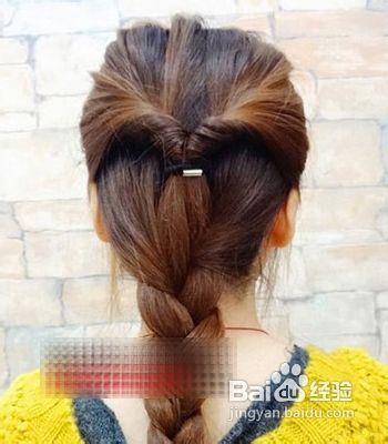 韩式麻花辫发型扎法步骤图片