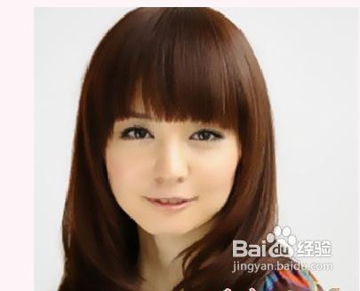 时尚/美容 > 美发  3 三:齐刘海适合圆脸 其实齐刘海最适合的是圆脸图片